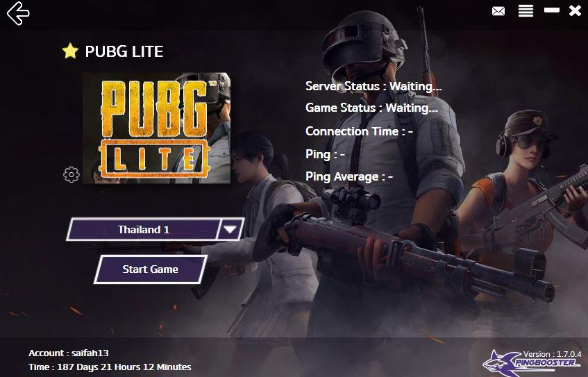 มาเล่น PUBGLITE ด้วย PingBooster ลดปิง ทะลุบล็อค แก้ไขปัญหา ERROR It is unavailable your region