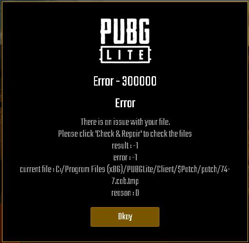 How to Fix Error 300000 PUBG LITE Update 13/02/2019 | PingBooster Blog