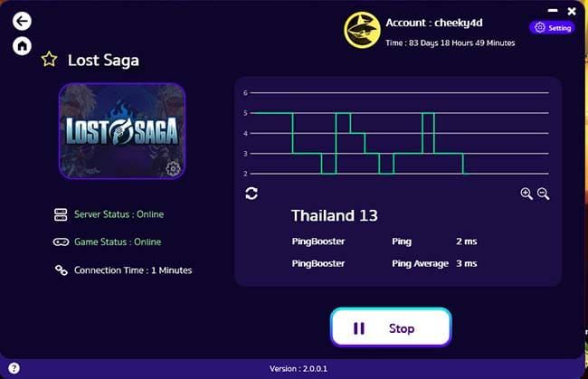 how-to-play-lost-saga-with-pingbooster