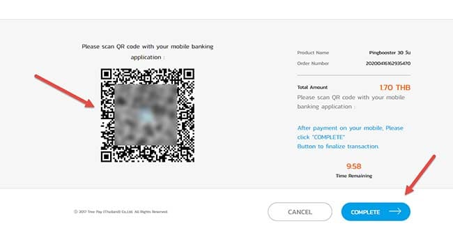 how-to-pay-pingbooster-with-thai-qr