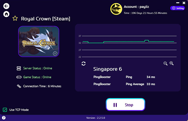 pingbooster-vpn-support-royal-crown
